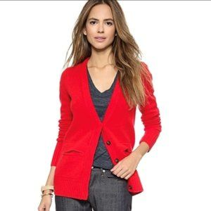 Madewell Red button up cardigan - XS